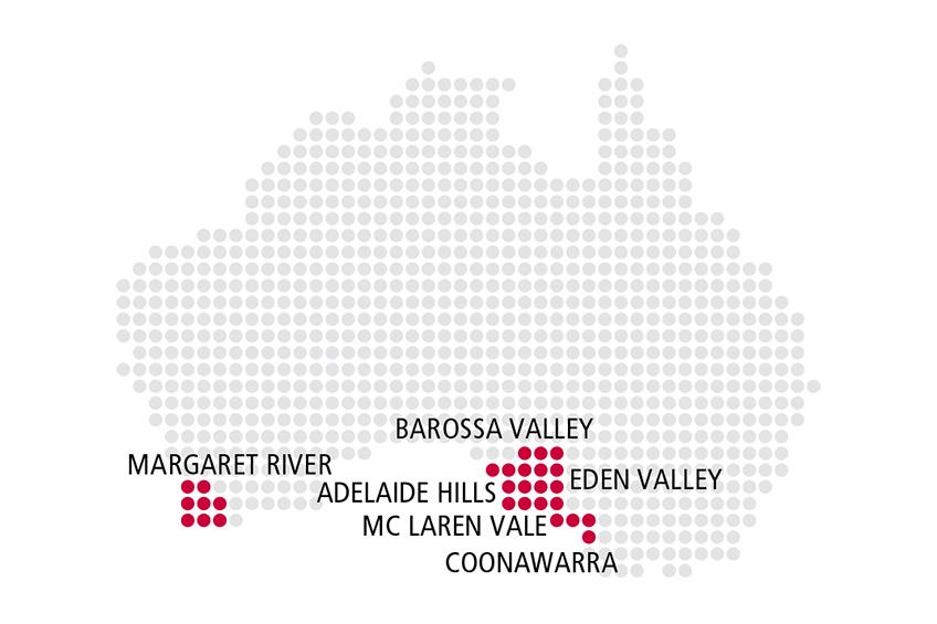 Piemont Weinbau Karte.Rutishauser Barossa Australien